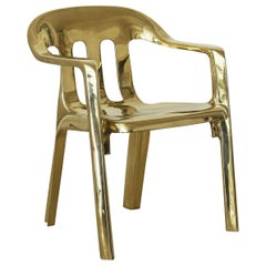 Contemporary Chair in Cast Brass