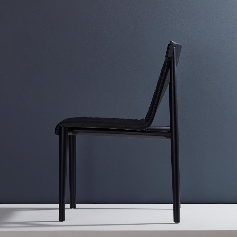 Dry chair collection.  The Dry chair concept is to work in a mixture of distinct references resulting in a modern classic in a dance between the retro and the modern. A heavy and in depth wood work is put to the structure to create interesting