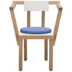 Contemporary Chair Oak Wood White