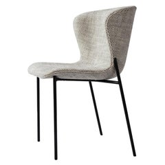 Contemporary Chair 'Pipe' Beige Wool