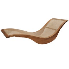 Contemporary Chaise Longue by Brazilian Designer in Wood