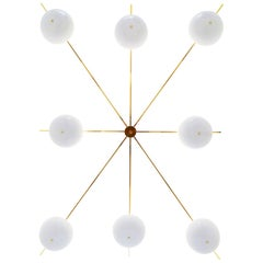 Contemporary Champagne Chandelier in Aluminium by Altreforme