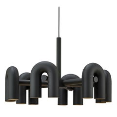 Contemporary Chandelier 'Cirkus' by AGO 'Large - Black'