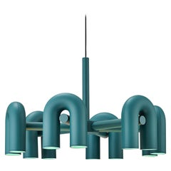Contemporary Chandelier 'Cirkus' by AGO 'Large - Green'