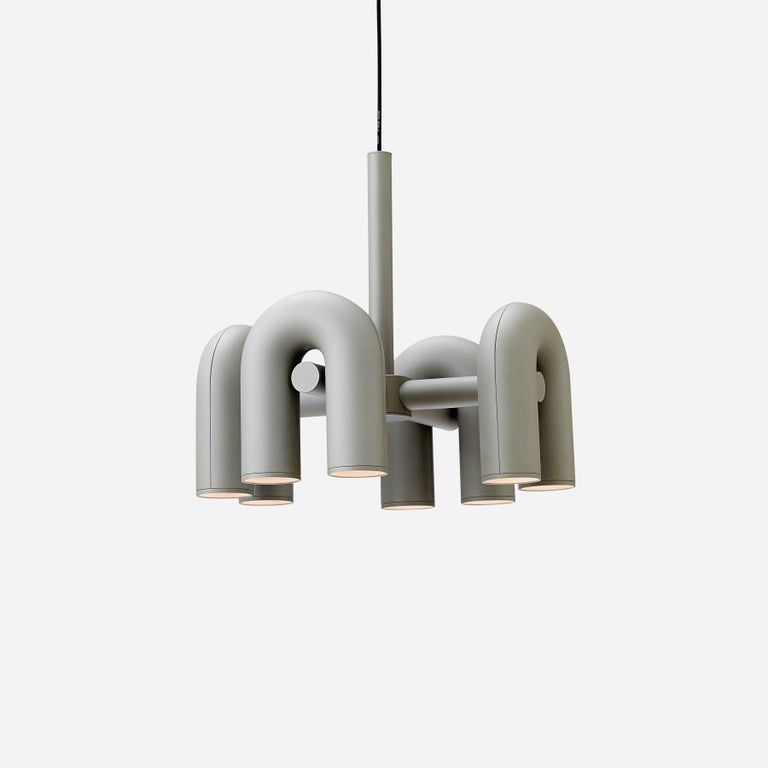 Contemporary Chandelier 'Cirkus' by AGO 'Large - Terracotta' For Sale 5