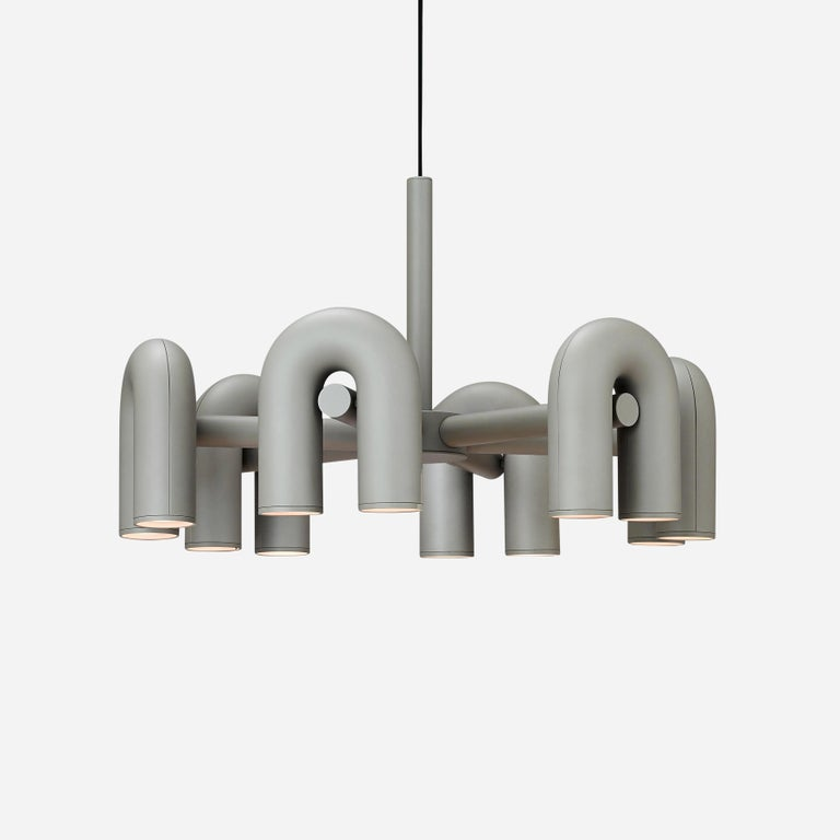 Contemporary Chandelier 'Cirkus' by AGO 'Large - Terracotta' For Sale 6