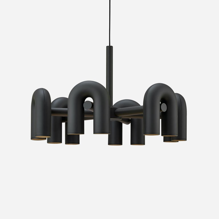 Contemporary Chandelier 'Cirkus' by AGO 'Large - Terracotta' For Sale 8