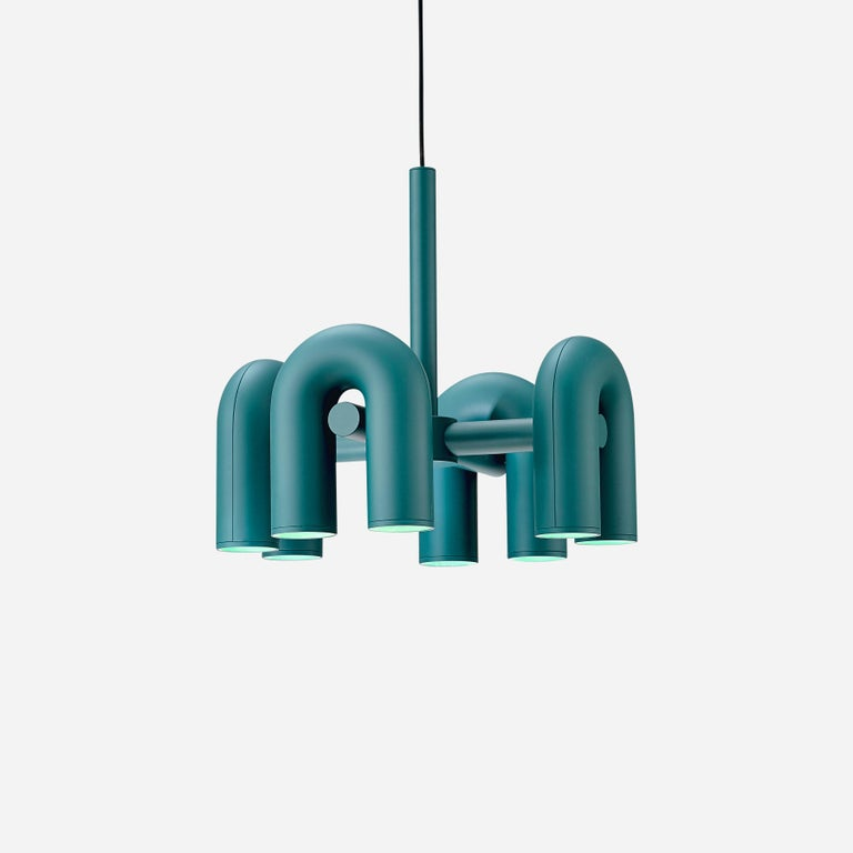 Contemporary Chandelier 'Cirkus' by AGO 'Large - Terracotta' For Sale 9