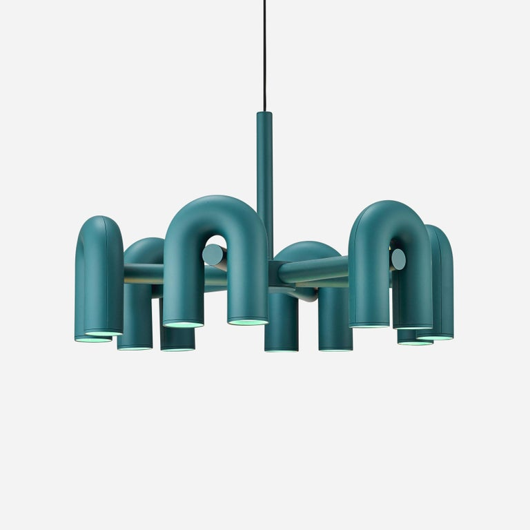 Contemporary Chandelier 'Cirkus' by AGO 'Large - Terracotta' For Sale 10