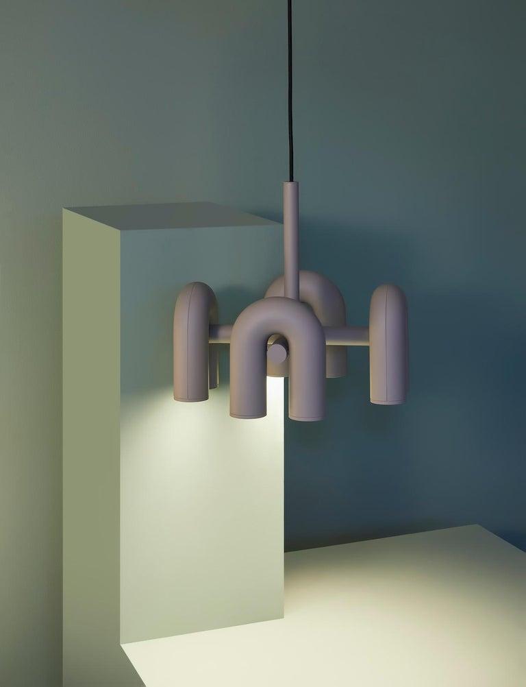 PVC Contemporary Chandelier 'Cirkus' by AGO 'Large - Terracotta' For Sale