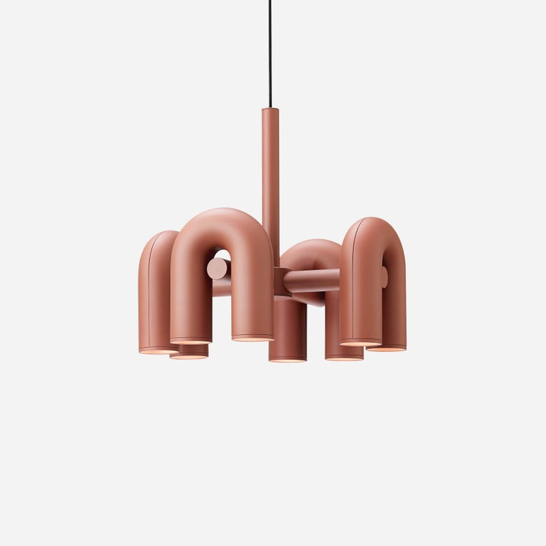 Contemporary Chandelier 'Cirkus' by AGO 'Large - Terracotta' For Sale 3