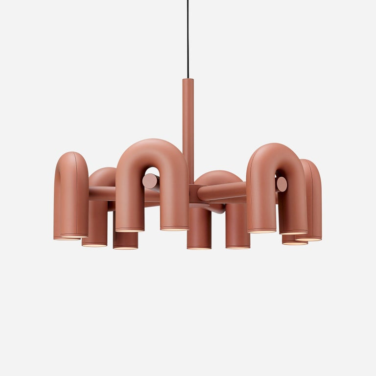 Contemporary Chandelier 'Cirkus' by AGO 'Large - Terracotta' For Sale 4