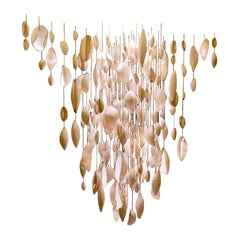 Contemporary Chandelier Pendant Light With White Porcelain Shells by Eva Menz