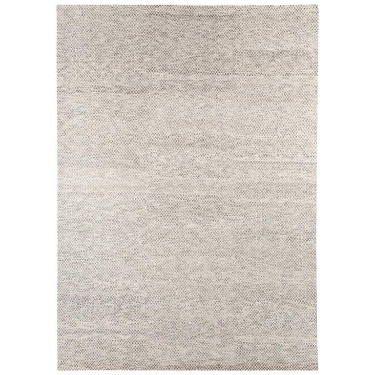 Checkerboard Area Rug: Contemporary Checkerboard Wool Area Rug By Carini For Sale
