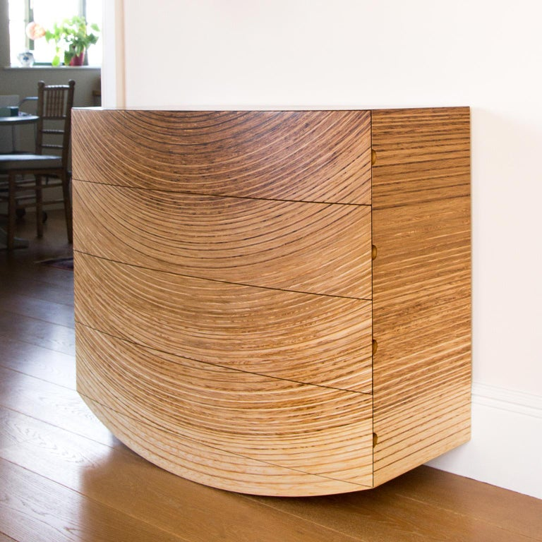 Contemporary Chest of Drawers in Fumed Oak, Oak and Ash by Edward Johnson For Sale 6
