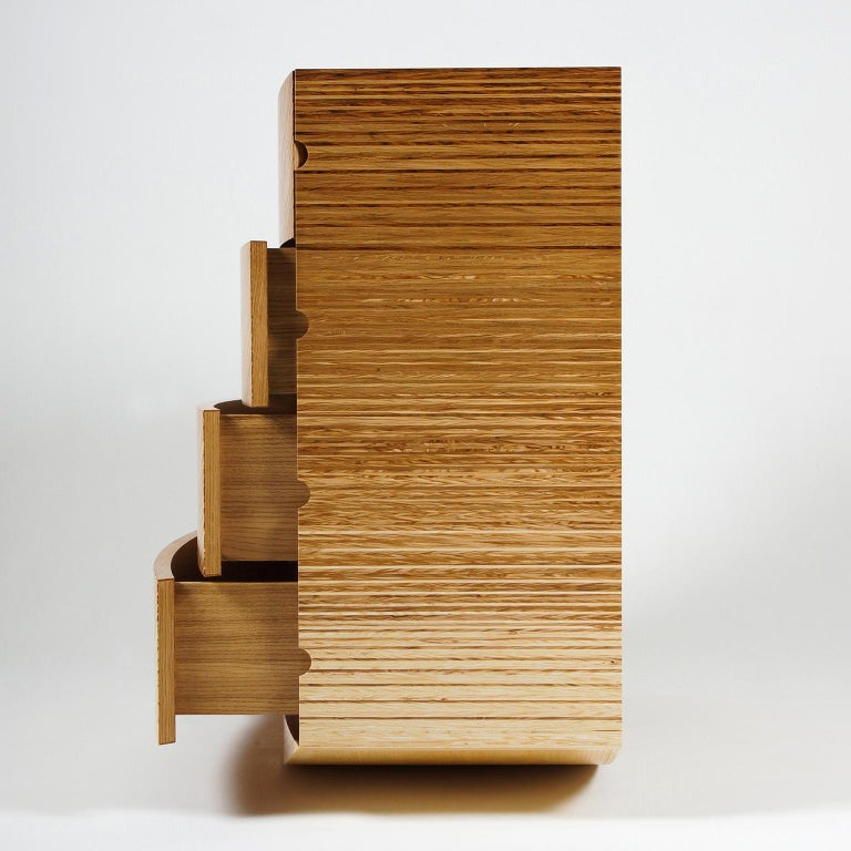 Contemporary Chest of Drawers in Fumed Oak, Oak and Ash by Edward Johnson In New Condition For Sale In Bosham, GB
