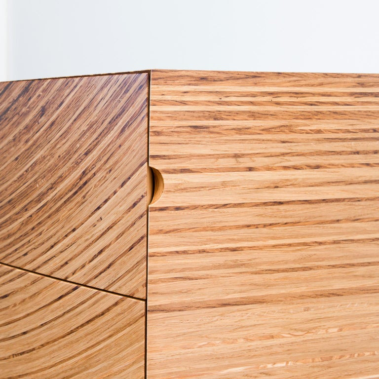 Contemporary Chest of Drawers in Fumed Oak, Oak and Ash by Edward Johnson For Sale 3