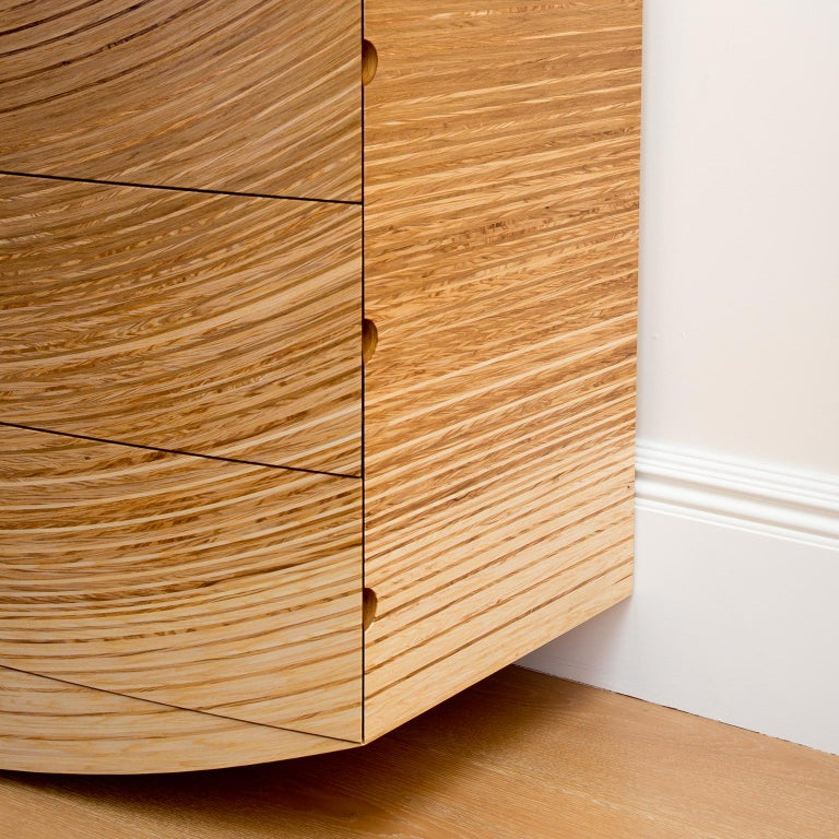 Contemporary Chest of Drawers in Fumed Oak, Oak and Ash by Edward Johnson For Sale 4