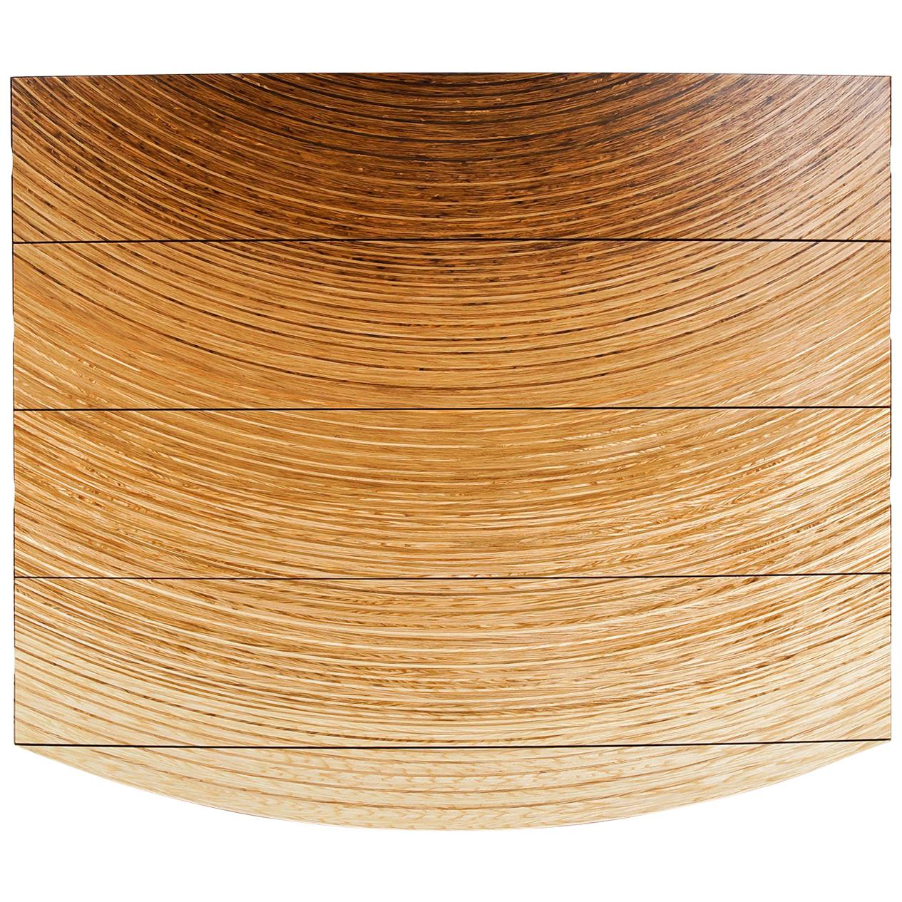 Contemporary Chest of Drawers in Fumed Oak, Oak and Ash by Edward Johnson