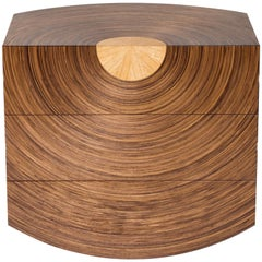 Contemporary Chest of Drawers in Walnut and Oak, 'Centrum' by Edward Johnson