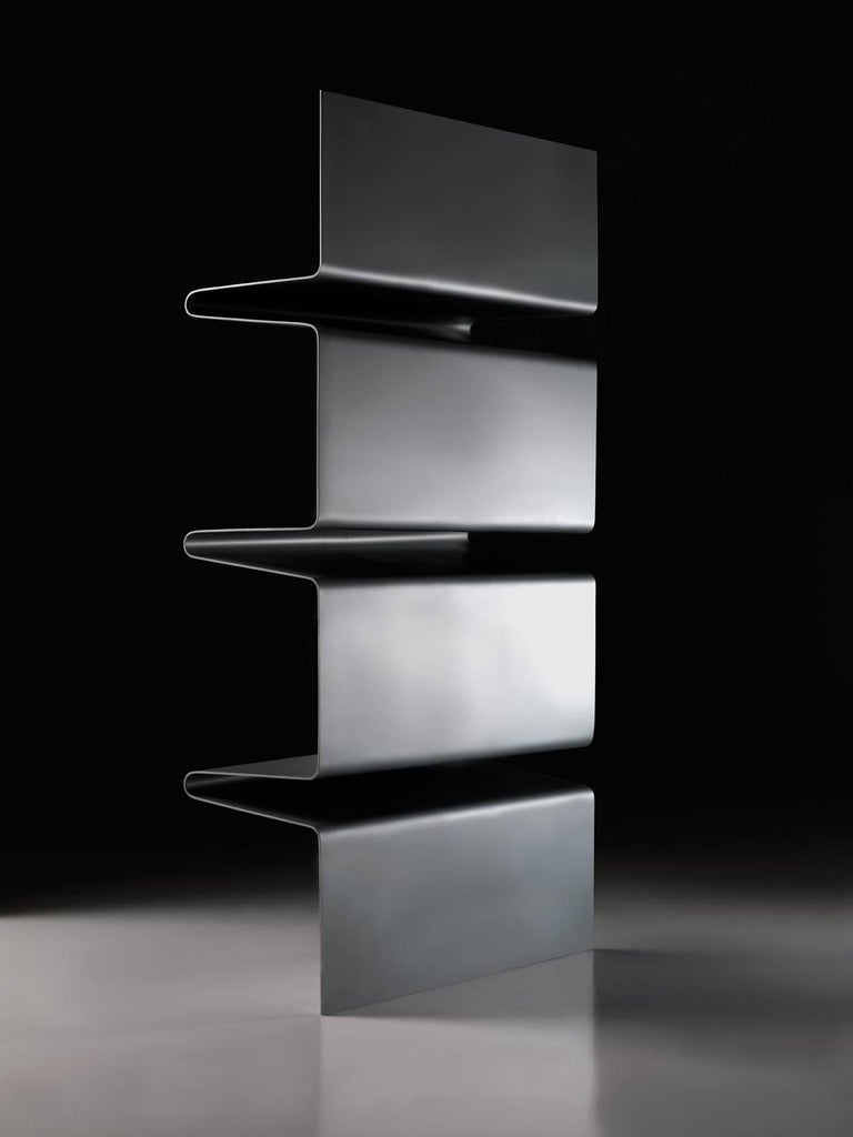 Modern Contemporary Cioccolata Bookshelf in Aluminium by Altreforme For Sale