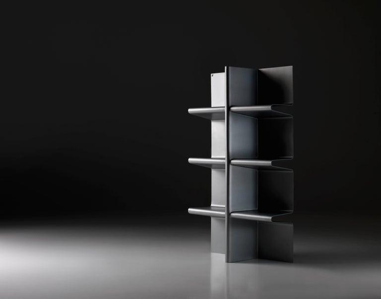 Italian Contemporary Cioccolata Bookshelf in Aluminium by Altreforme For Sale