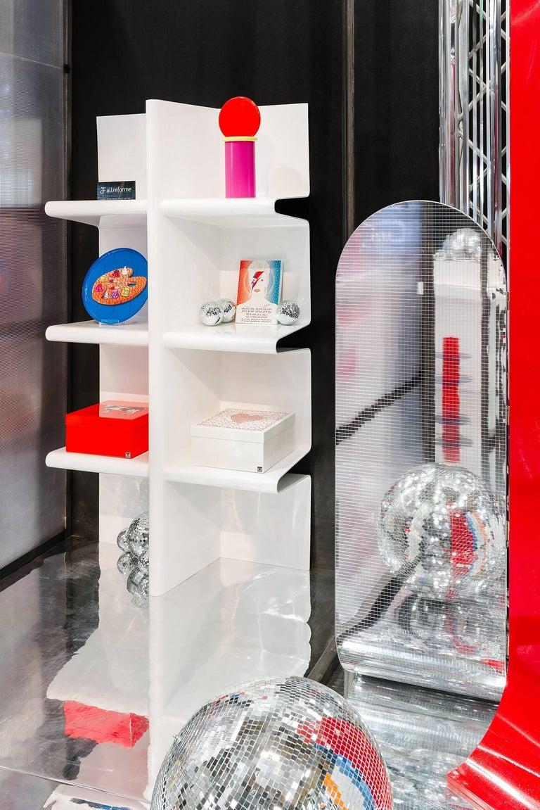 Contemporary Cioccolata Bookshelf in Aluminium by Altreforme In New Condition For Sale In Milan, IT