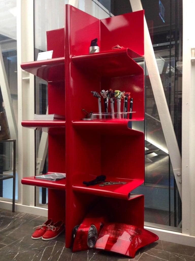Aluminum Contemporary Cioccolata Bookshelf in Aluminium by Altreforme For Sale