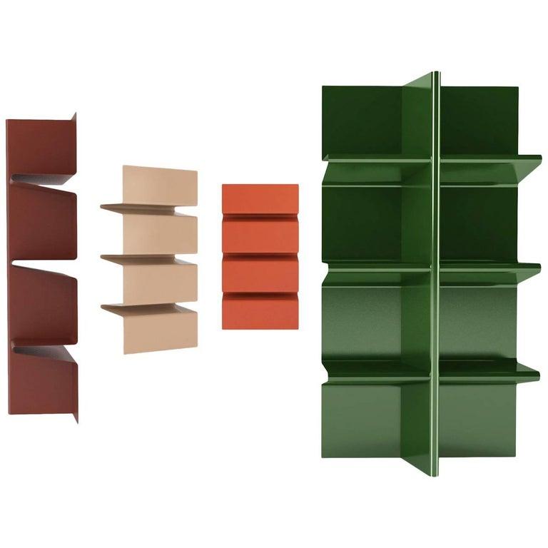 Contemporary Cioccolata Bookshelf in Aluminium by Altreforme For Sale
