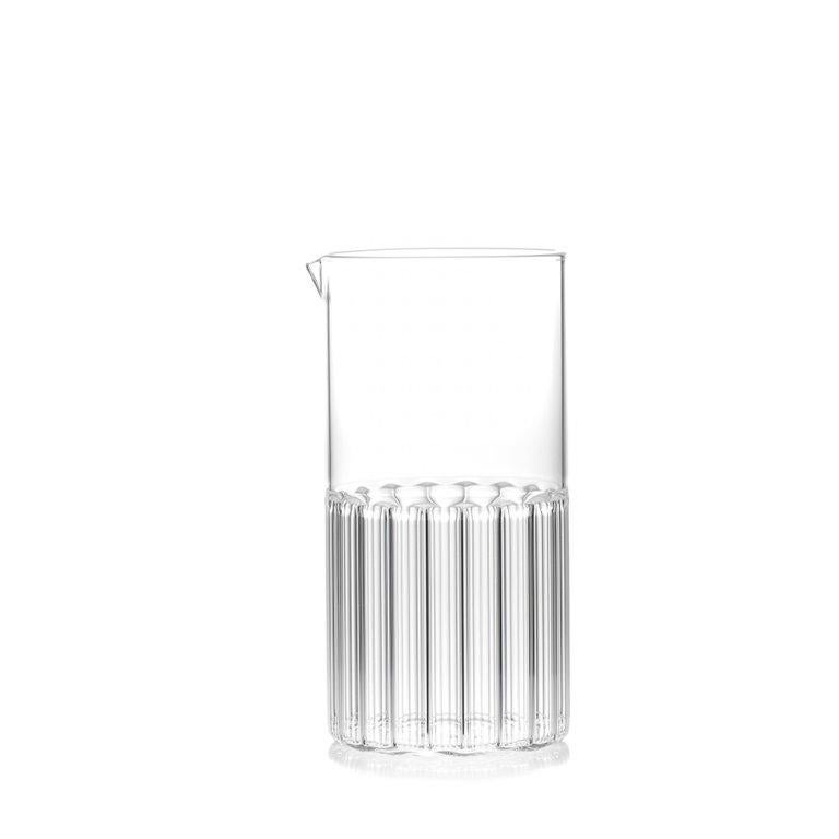 This contemporary clear glassware set includes 1 Bessho Carafe and 6 Rila large glasses.  This item is also available in the US.   Just as the small town is known for the healing properties of its hot springs, so are the evenings we spend with good
