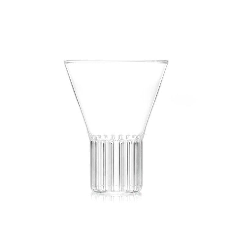 Modern EU Clients Contemporary Handmade Glass Carafe and 6 Large Glass Set in Stock For Sale