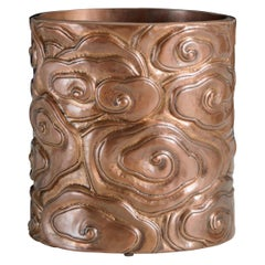 Contemporary Cloud Design Brushpot in Antique Copper by Robert Kuo