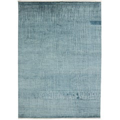 New Contemporary Coastal Moroccan Style Rug with Abstract Design, Hampton's Chic
