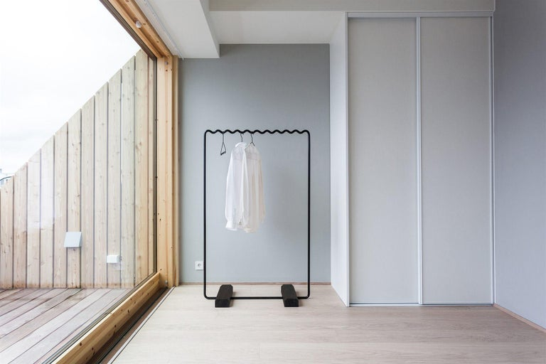 Contemporary Large Coat Rack in Black by Erik Olovsson In New Condition For Sale In Stockholm, SE