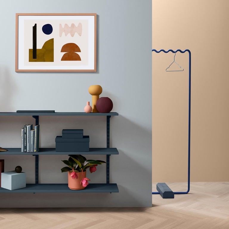 Contemporary Coat Rack Medium in Blue by Erik Olovsson For Sale 3
