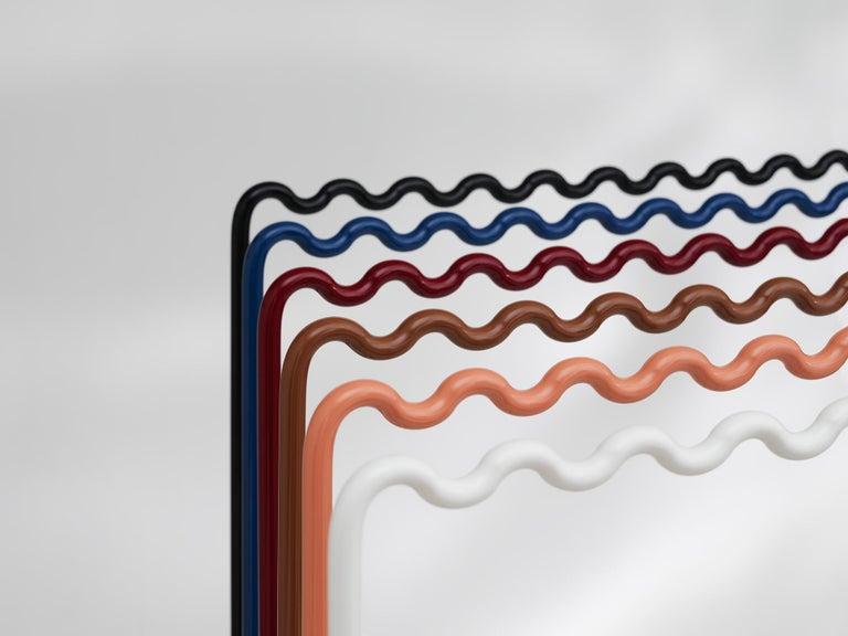 Aluminum Contemporary Coat Rack Medium in Blue by Erik Olovsson For Sale