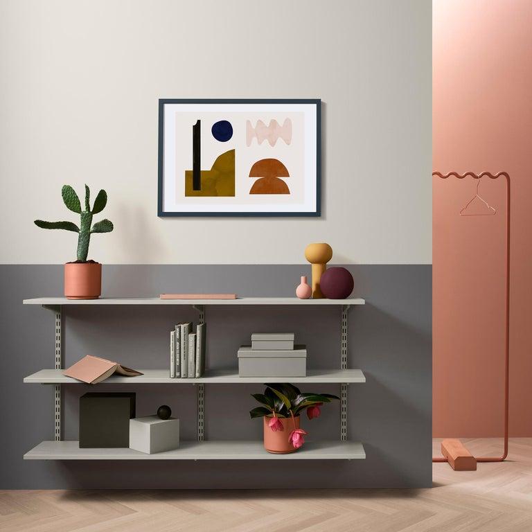 Aluminum Contemporary Coat Rack Medium in Pink/peach by Erik Olovsson For Sale