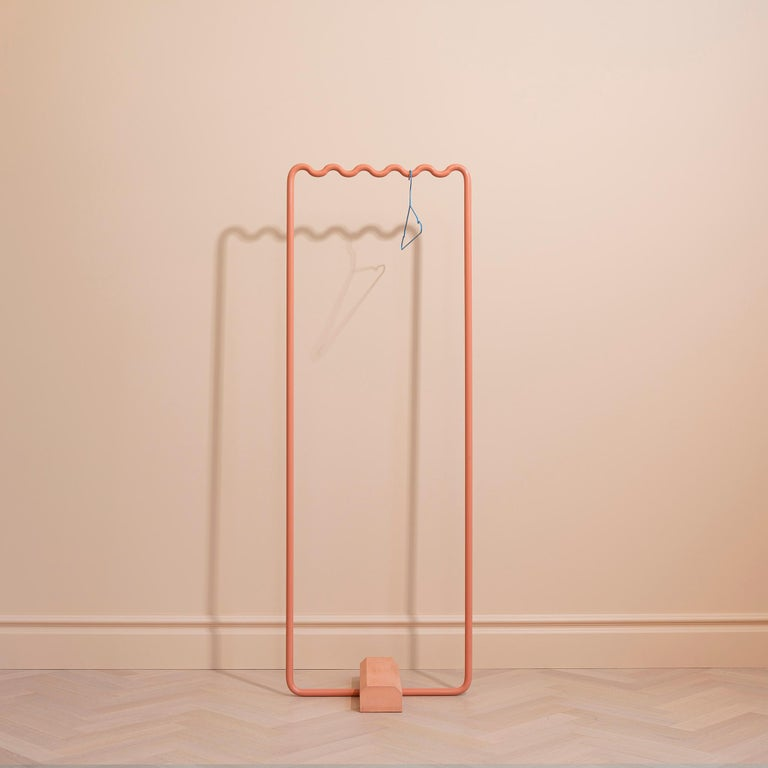 Contemporary Coat Rack Small in Pink by Erik Olovsson For Sale 3