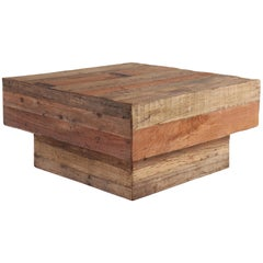 Contemporary Coffee Table Made from Repurposed Teak Planking