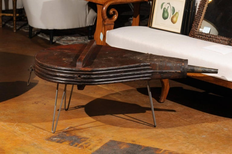 Surprising Contemporary Coffee Table Made Of 19Th Century Bellows Raised On Tubular Legs Gmtry Best Dining Table And Chair Ideas Images Gmtryco