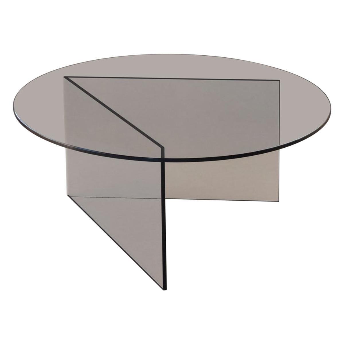 Contemporary Coffee Table 'Pond' Bronze Glass