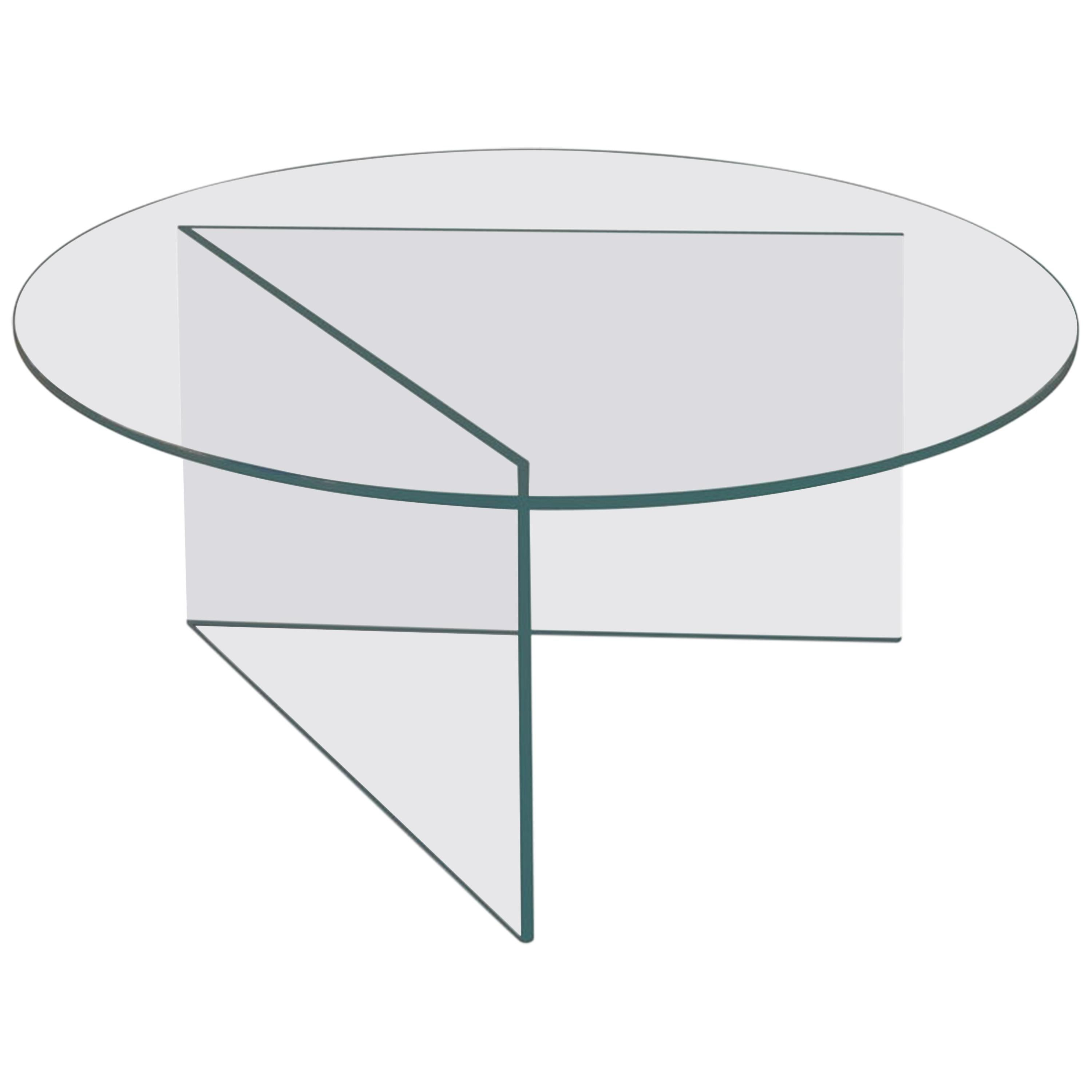 Contemporary Coffee Table 'Pond' Clear Glass