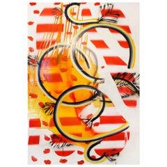 """Contemporary Colorful Artwork """"Bucles (17)"""" by Felicidad Moreno, 2001"""