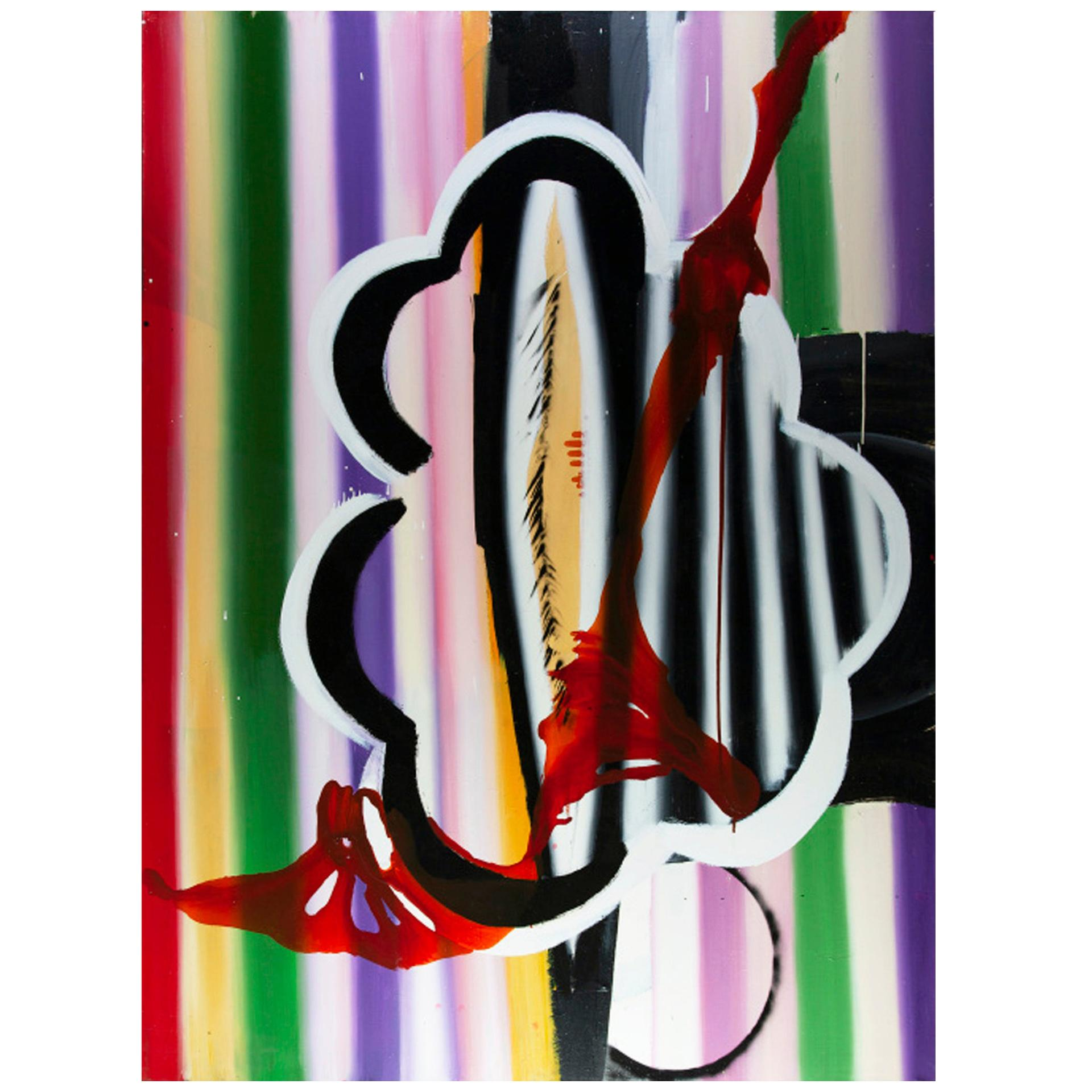 """Contemporary Colorful Artwork """"Lagarteranas"""" by Felicidad Moreno"""