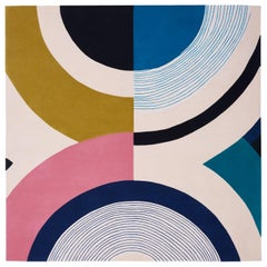 Contemporary Colorful Rug Inspired by Seoul's Aesthetic
