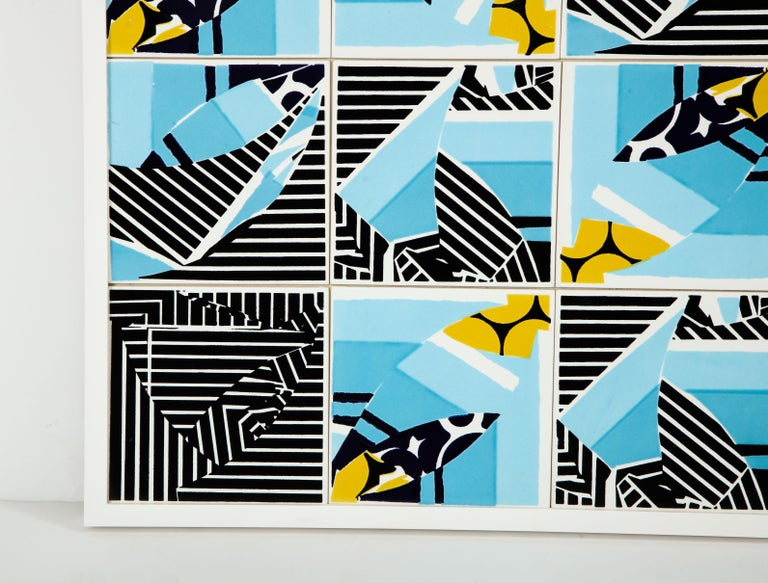 Ceramic Contemporary Composition with Limited Edition Tiles by Brazilian Designer For Sale