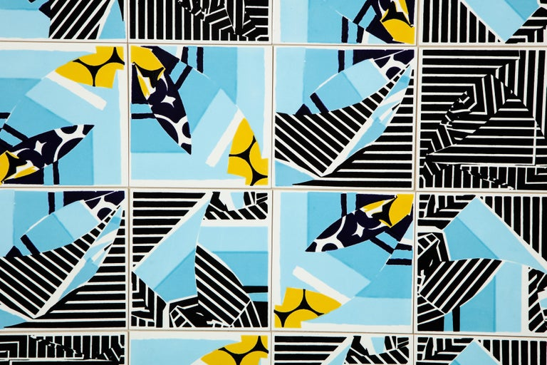 Contemporary Composition with Limited Edition Tiles by Brazilian Designer For Sale 1