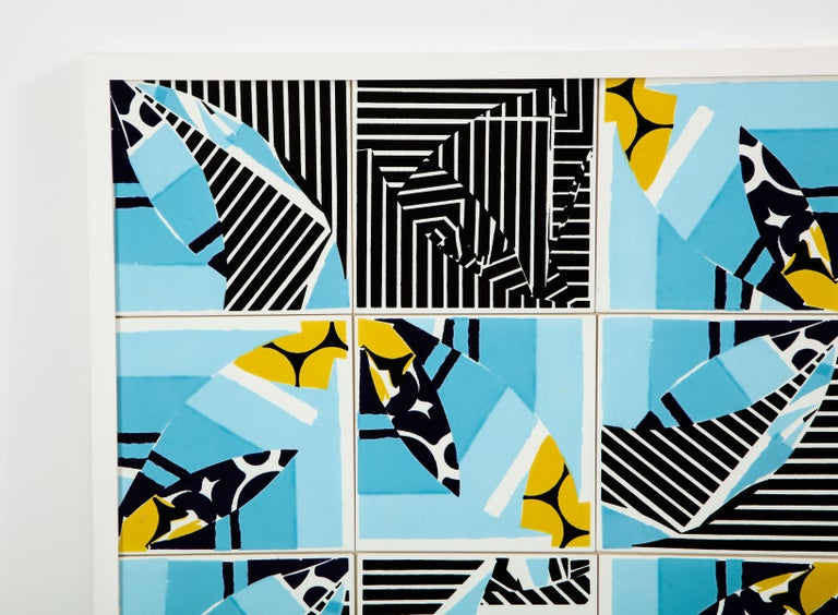 Post-Modern Contemporary Composition with Limited Edition Tiles by Brazilian Designer For Sale