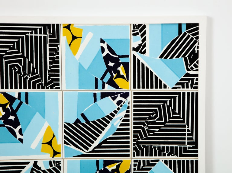 Fired Contemporary Composition with Limited Edition Tiles by Brazilian Designer For Sale