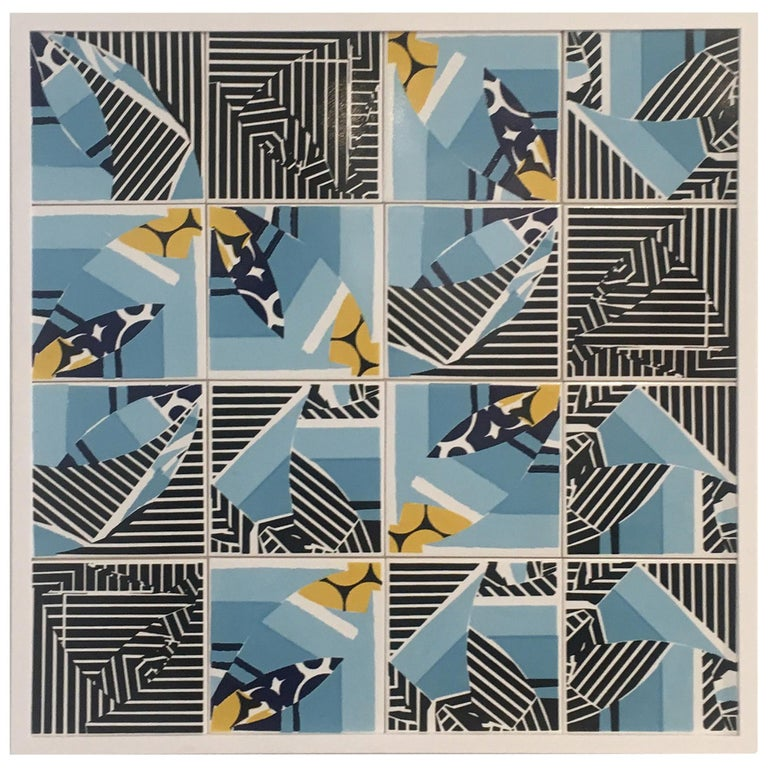 Contemporary Composition with Limited Edition Tiles by Brazilian Designer For Sale